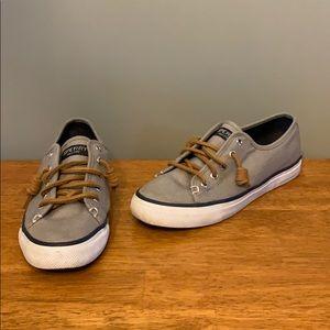 Sperry Sneakers in Gray Canvas Women's 6